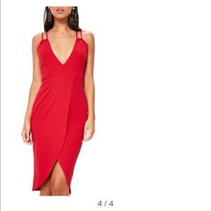 Missguided double strap body-con dress